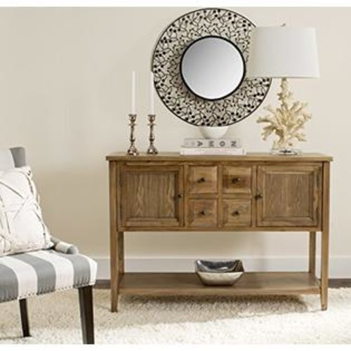 Safavieh American Home Collection Howard Dark Brown Side Table