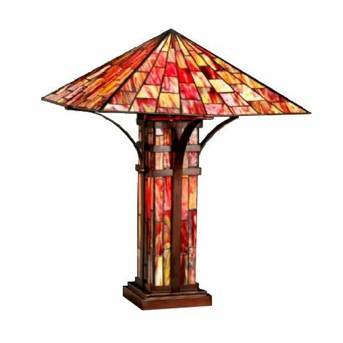 Warehouse of Tiffany Tiffany-style Mission Double Lite Table Lamp