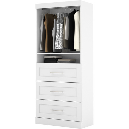 Pur by Bestar 36-inch Storage Unit with 3-drawer Set