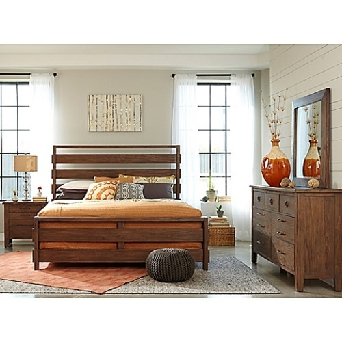 Palmetto Home Panama Jack Driftwood 4-Piece Queen Bedroom Set