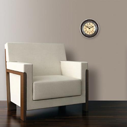 FirsTime Gourmet Caf Coffee Bean Round Wall Clock, 7 1/2