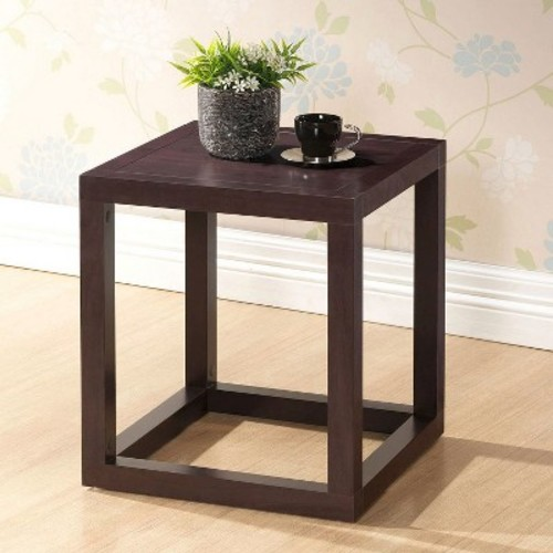 Baxton Studio Hallis Brown Modern Accent Table and Nightstand - Square Top - 15.80