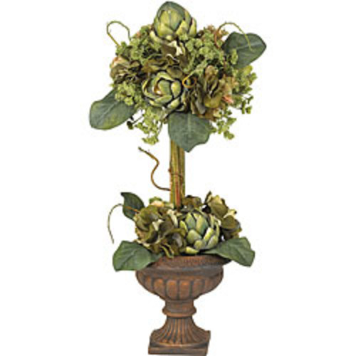 Nearly Natural Artificial Plants 39-inch Hibiscus Topiary