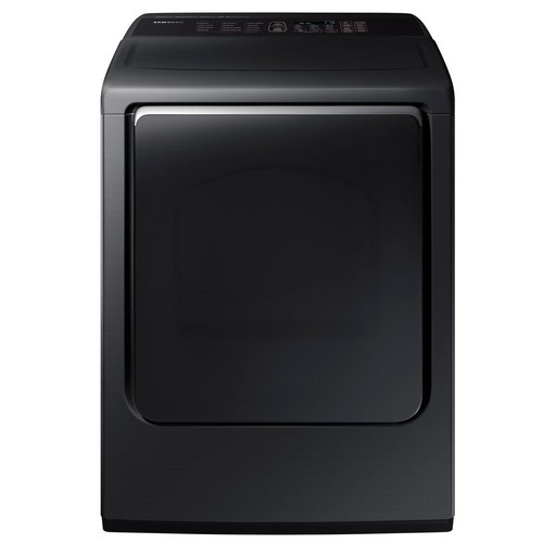 Samsung 7.4 cu. ft. Gas Dryer with Steam in Black Stainless Steel, ENERGY STAR