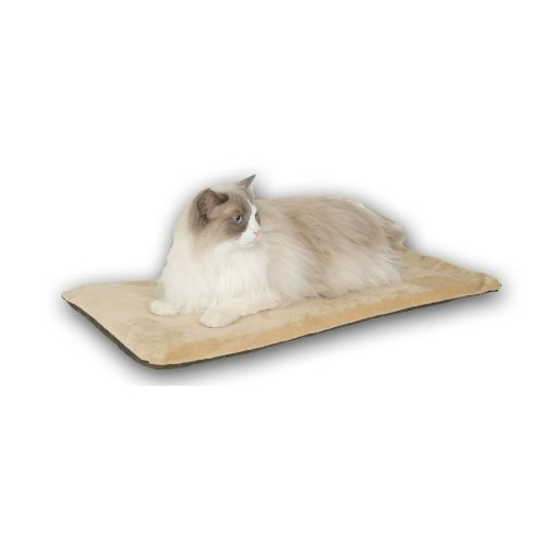 K&H Pet Products Thermo-Kitty Mat - Heated Mat for Cats - 6 watts - MET Safety Listed [Mocha]