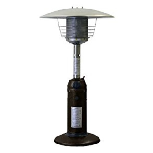 AZ Patio Heaters HLDS032-CG Portable Table Top Stainless Steel Patio Heater, Bronze Gold Hammered Finish [Bronze Gold, Classic]