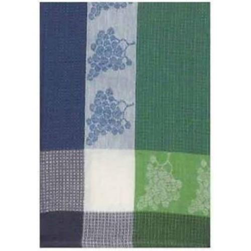 Fleur De Lis Living Patterned Grapes 100pct Cotton Dishcloth (Set of 6); Blue/Green