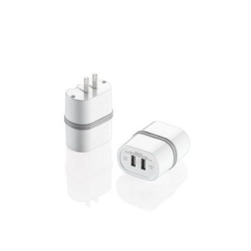Travel Smart LectronicSmart Dual USB Port AC Wall Charger LS2AD