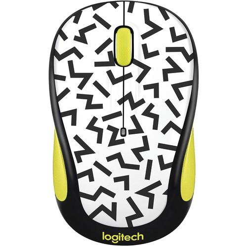 Logitech - Wireless Optical Mouse - Yellow zigzag