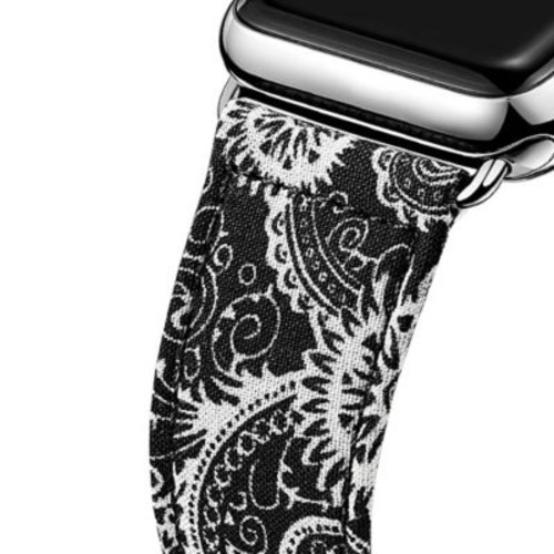 iPM Leather & Cloth Band with Buckle for Apple Watch-38mm-National Black (LCL38NTLBK)