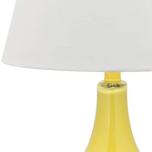 Safavieh Lighting 24-inch Amy Gourd Glass Yellow Table Lamps (Set of 2)