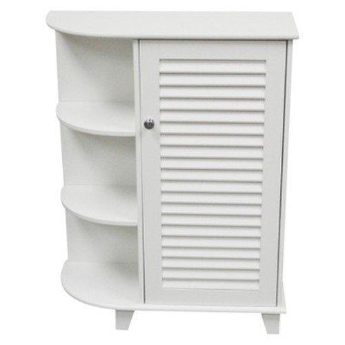 Ellsworth Single Door Cabinet - White/Espresso - RiverRidge