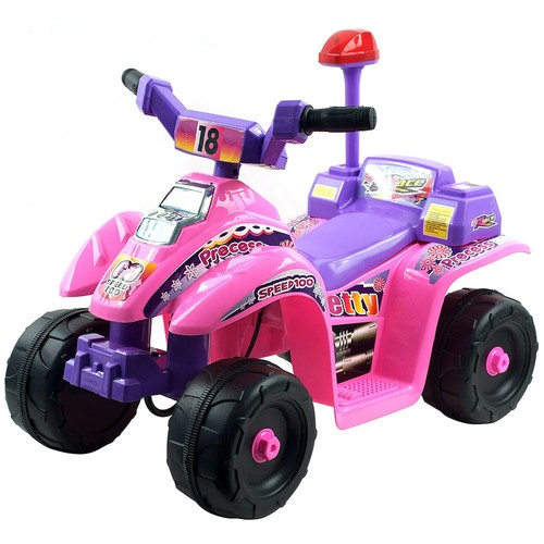 Ride On Toy Quad, Battery Powered Ride On Toy ATV Four Wheeler With Princess Theme by Lil' Rider  Toys for Boys and Girls 2 - 4 Year Olds (Pink)