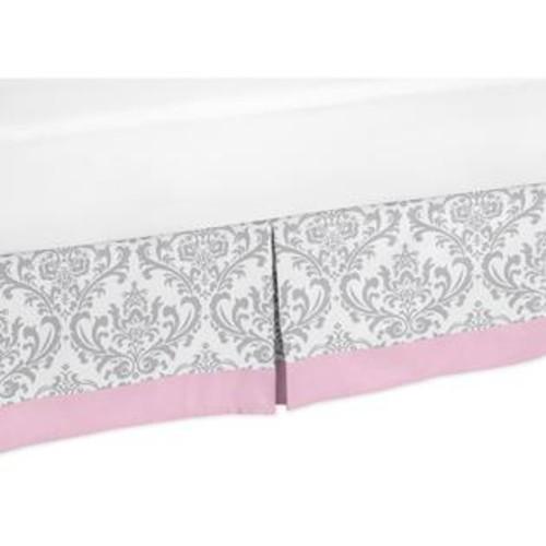 Sweet Jojo Designs Pink and Gray Elizabeth Collection Queen Bed Skirt