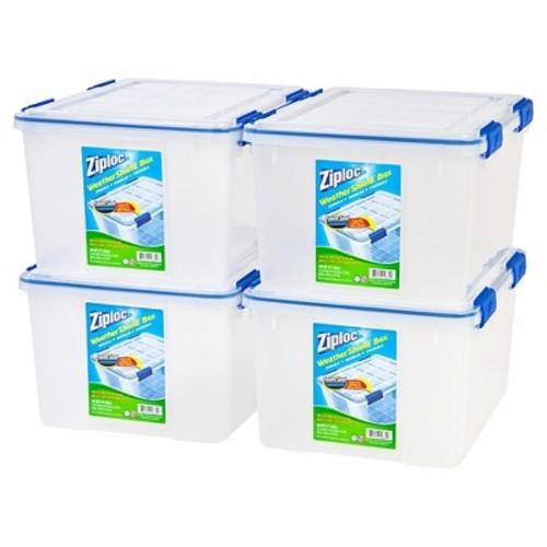 Ziploc WeatherShield 44 Qt Storage Box - 4 Pack