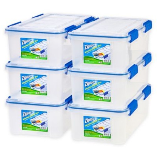 Ziploc WeatherShield 16 qt. Storage Boxes in Clear (Set of 6)