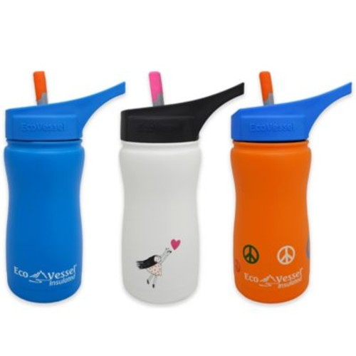 Eco Vessel FROST 13 oz. Insulated Kids Straw Top Water Bottle