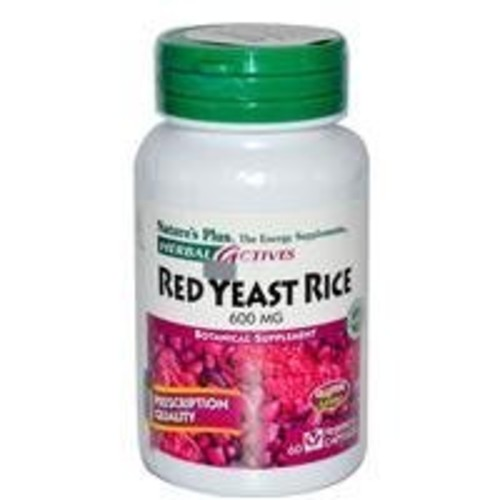 Nature's Plus - Herbal Actives Red Yeast Rice 600 mg Vcaps, 60 count