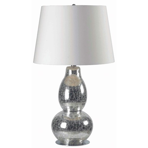 Kenroy Home 32041CHCR - Mercurio Table Lamp Chrome Crackled Glass Finish