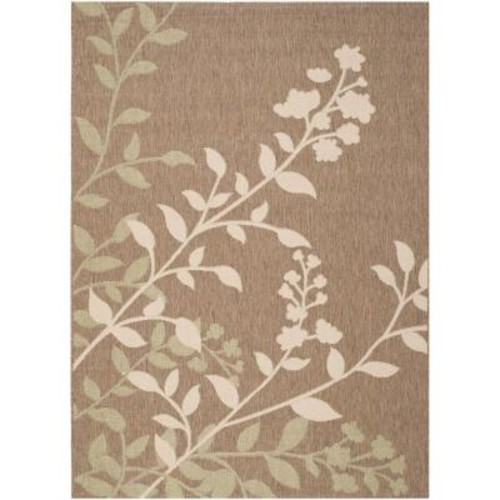 Safavieh Courtyard Brown/Beige 7 ft. x 10 ft. Indoor/Outdoor Area Rug