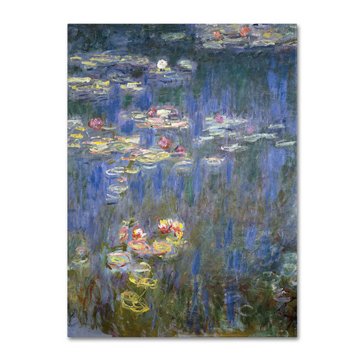 Claude Monet 'Water Lilies IV 1840-1926' Canvas Art - Multi
