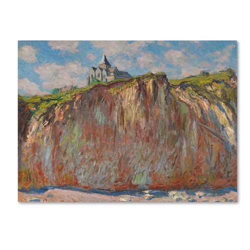 Claude Monet 'Church at Varengeville' Canvas Art - Multi