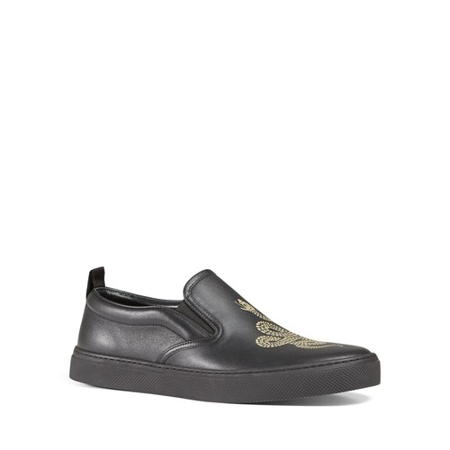 GUCCI Snake Slip On Sneakers