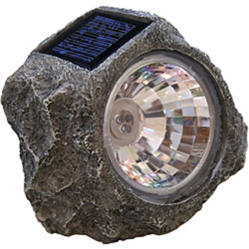 Tricod Solar-powered Faux Stone Spot Light