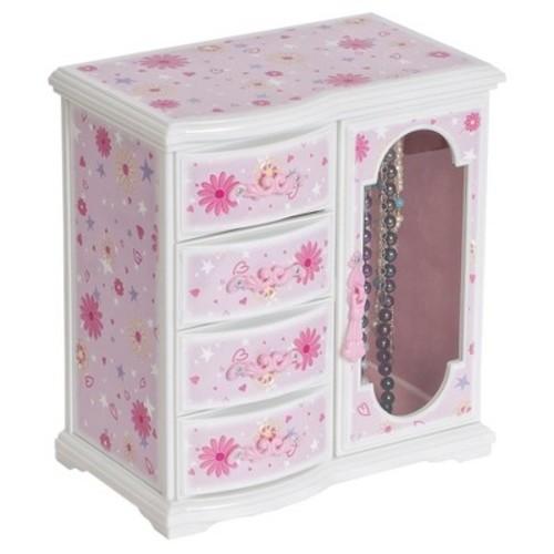 Mele & Co. Dorothy Girls' Glittery Upright Musical Ballerina Jewelry Box - Pink