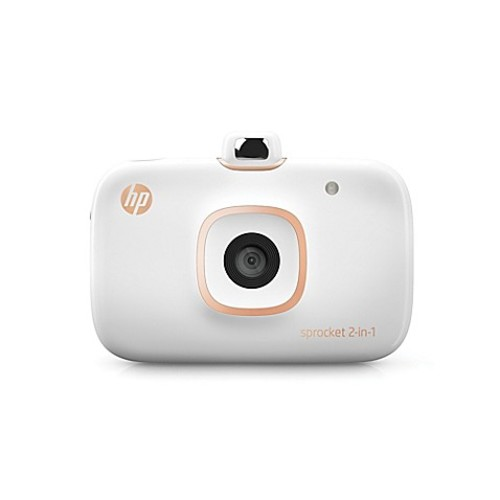 HP Sprocket 2-in-1 Photo Printer with Camera in White