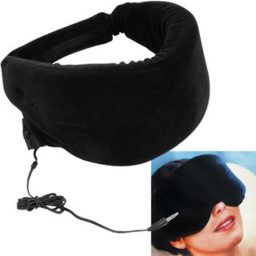 Heat-sensitive Memory Foam Black Sleep Mask