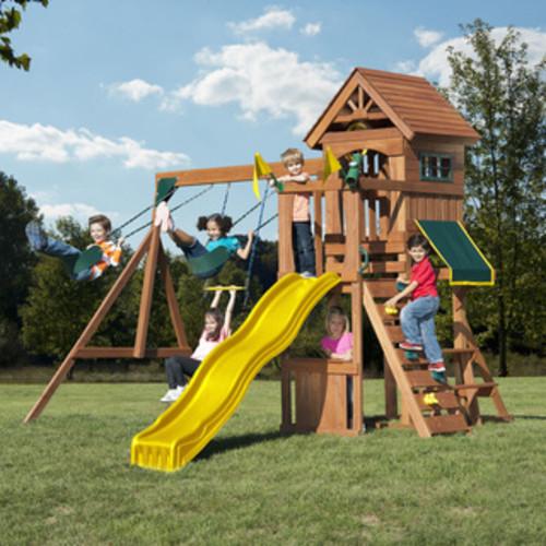 Backyard Discovery Saratoga All Cedar Swingset