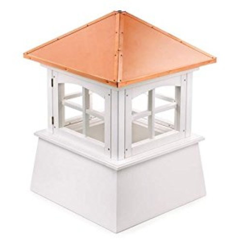 Good Directions Huntington Vinyl Cupola with Copper Roof, 30