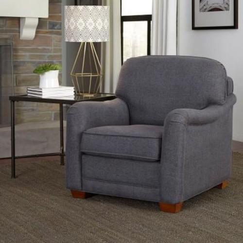 Home Styles Magean Grey Fabric Arm Chair