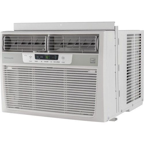 Frigidaire White FFRE1033S1 10,000 BTU 115V Window-Mounted Compact Air Conditioner with Temperature Sensing Remote Control
