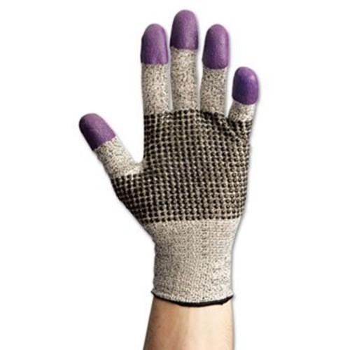 JACKSON SAFETY G60 Purple Nitrile Gloves, X-Large/Size 10, Black/White, Pair