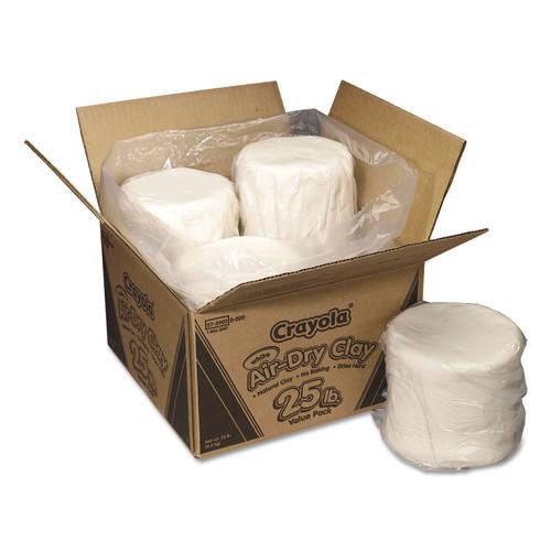 Crayola CYO575001 Air-Dry Clay, White, 25 lbs