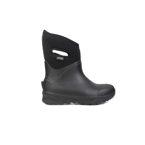 BOGS Bozeman Mid Men 11 in. Size 14 Black Rubber with Neoprene Waterproof Boot