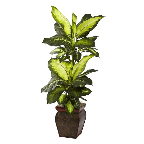 nearly natural 3 3/4-ft. Potted Dieffenbachia Plant