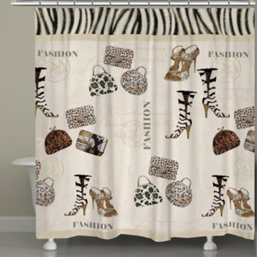 Laural Home Wild for Fashion Shower Curtain
