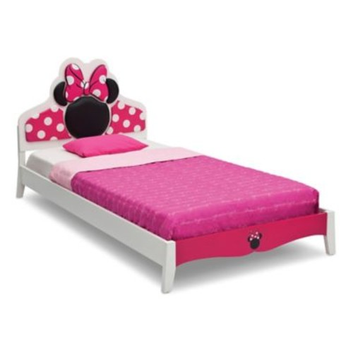 Delta Children Disney Minnie Mouse Wood Twin Bed in Pink