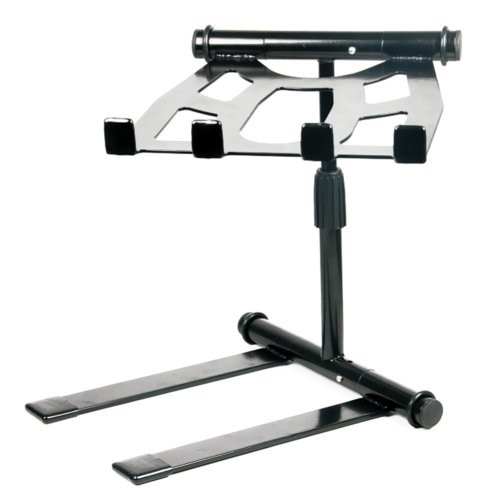 Pyle PLPTS55 - Portable, Folding Tabletop DJ Gear Stand for Laptop Mixer or Other Gear - Adjustable Angle and Height [Portable + Adjustable]