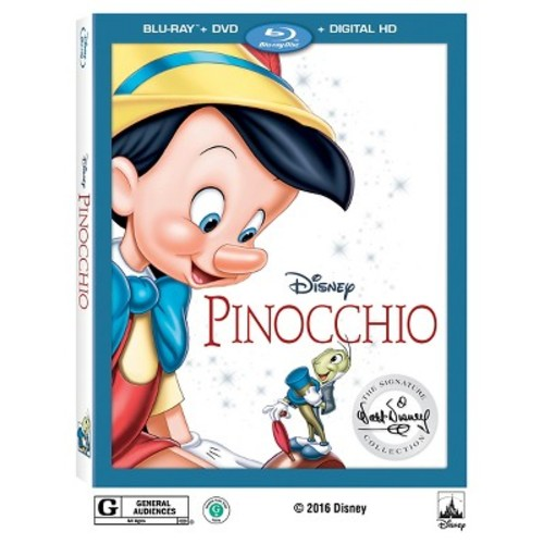 Pinocchio: The Signature Collection 2-Disc Blu-Ray Combo Pack (Blu-Ray/DVD/Digital HD)