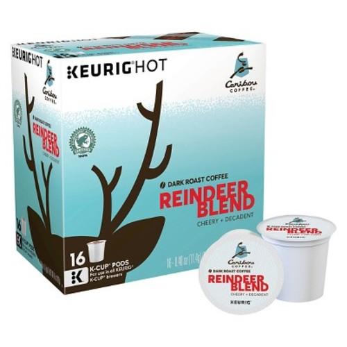 Keurig K-Cup Pod Caribou Coffee Reindeer Blend Dark Roast Coffee - 16-pk.