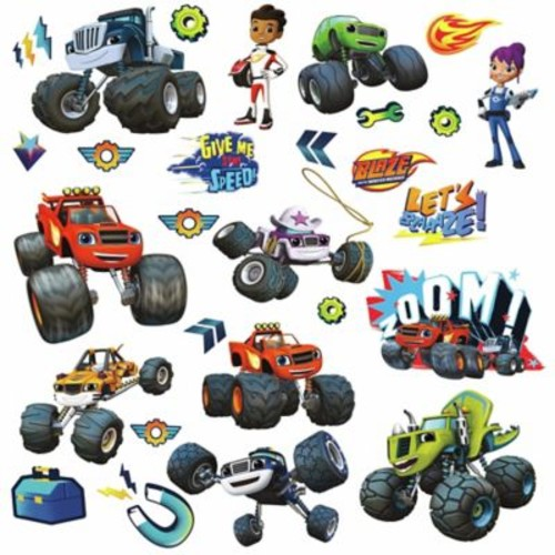 RoomMates Dcor Blaze and the Monster Machines Peel and Stick Wall Decals