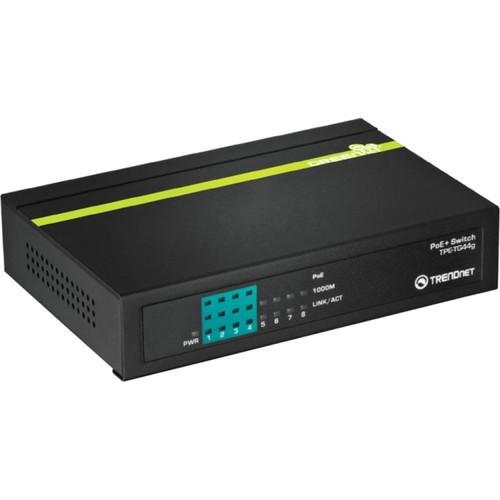 Trendnet TPE-TG80G Trendnet, 8-Port Gigabit Greennet Poe+ Switch [8-Port, Gigabit PoE]