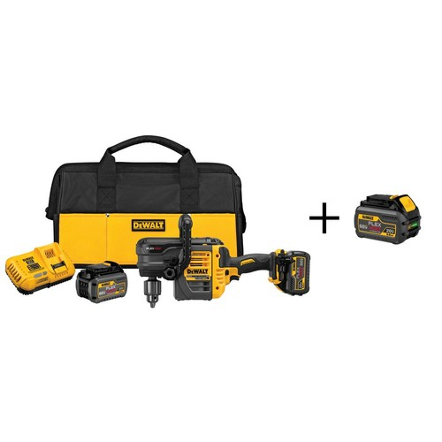 DEWALT FLEXVOLT 60-Volt MAX Lithium-Ion Cordless Brushless 1/2 in. Stud and Joist Drill with 6.0Ah Battery Pack
