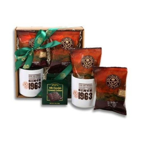 Alder Creek Gift Baskets Coffee Bean & Tea Leaf Coffee Sampler Gift Box (FG08835)