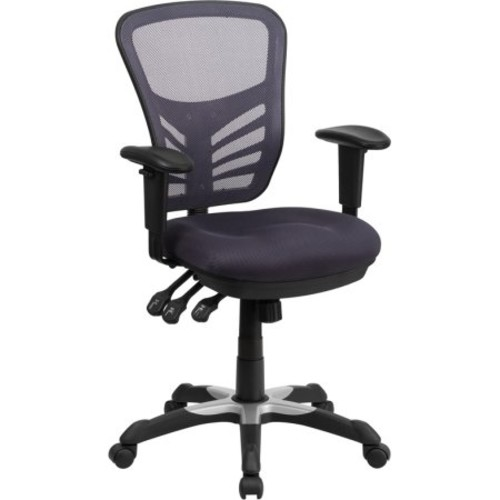 Flash Furniture Mid-Back Mesh Swivel Task Chair with Triple Paddle Control, Multiple Colors