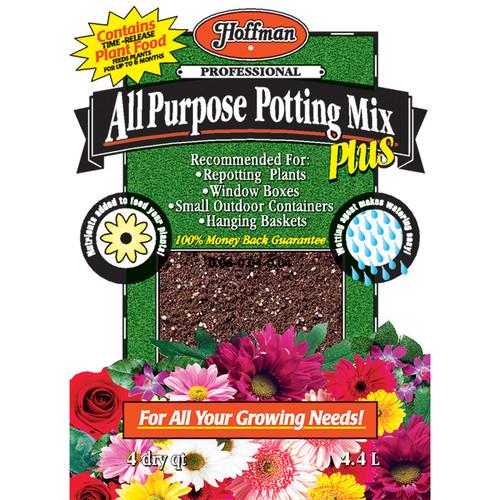 Hoffman HOF12304 All-Purpose Potting Mix Plus - 4 quart